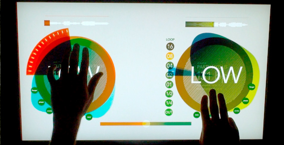Multitouch DJ-Interface