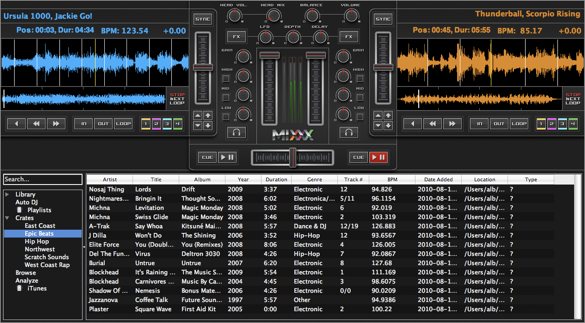 Freie Digital-DJ-Software: Mixxx